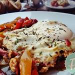 Μαροκινό Σακσούχα Αυγά με Λαχανικά