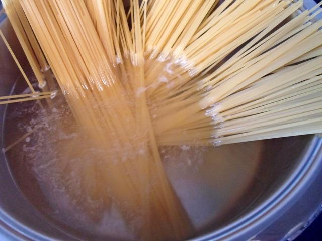 Συνταγές Γαριδομακαροναδα με Σπαγγέτι