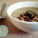 Σούπα Βελουτέ με Φακές και Μανιτάρια