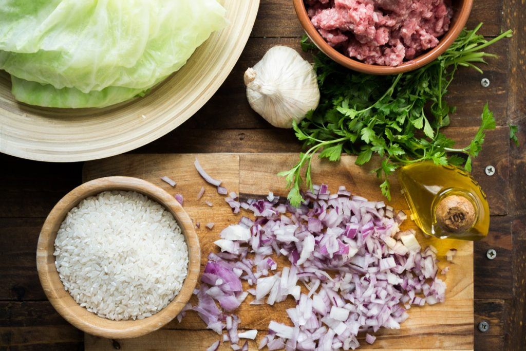Συνταγή για λαχανοντολμάδες με κιμά