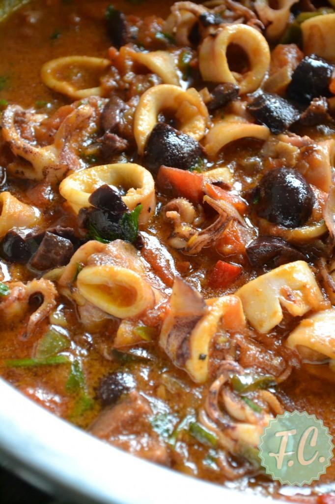 Καλαμαράκια με Ελιές Συνταγές
