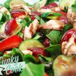 Σαλάτα με Ρόκα, Κοτόπουλο και Φράουλες