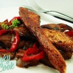 Φιλετίνια Κοτόπουλου με Μπαλσάμικο και Καραμελωμένα Λαχανικά