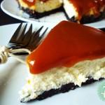 Cheesecake με Μπισκότα Oreo και Επικάλυψη Καραμέλας