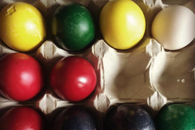 Πασχαλινά Αυγά με Φυτικές Βαφές