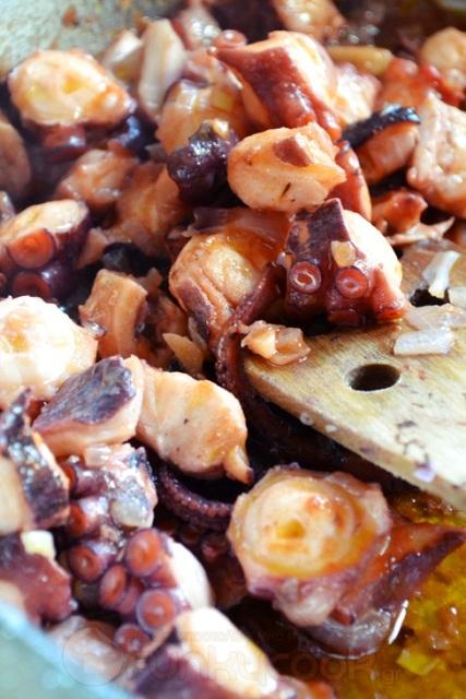 Συνταγές για χταπόδι γιουβέτσι