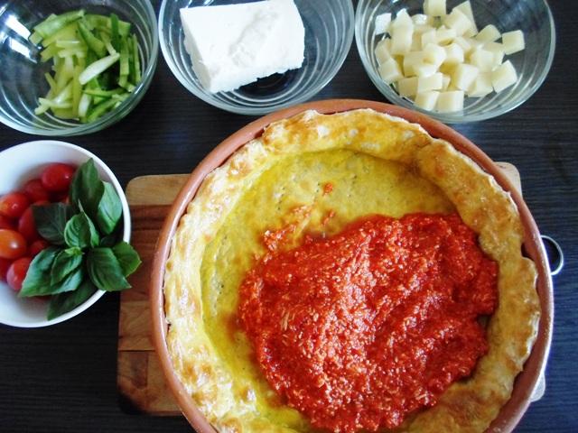 Συνταγές με Ντοματίνια Πιπεριά Τυριά