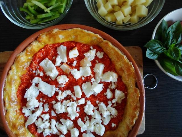 Συνταγή με Ντοματίνια Πιπεριά Τυριά