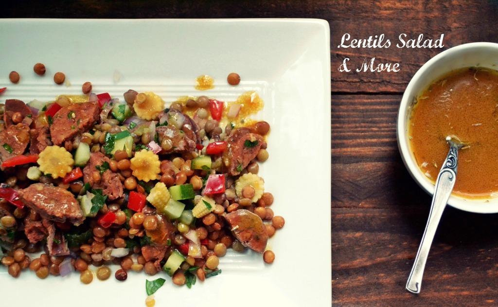 Σαλάτα Ζεστή με Φακές-Λαχανικά