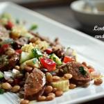 Φακές Σαλάτα με Λουκάνικο