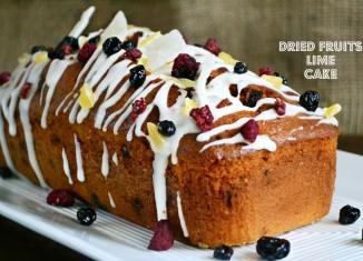 Κέικ με Αποξηραμένα Φρούτα και Λάιμ