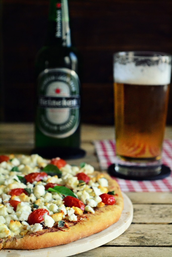 Πίτσα με ζύμη μπύρας