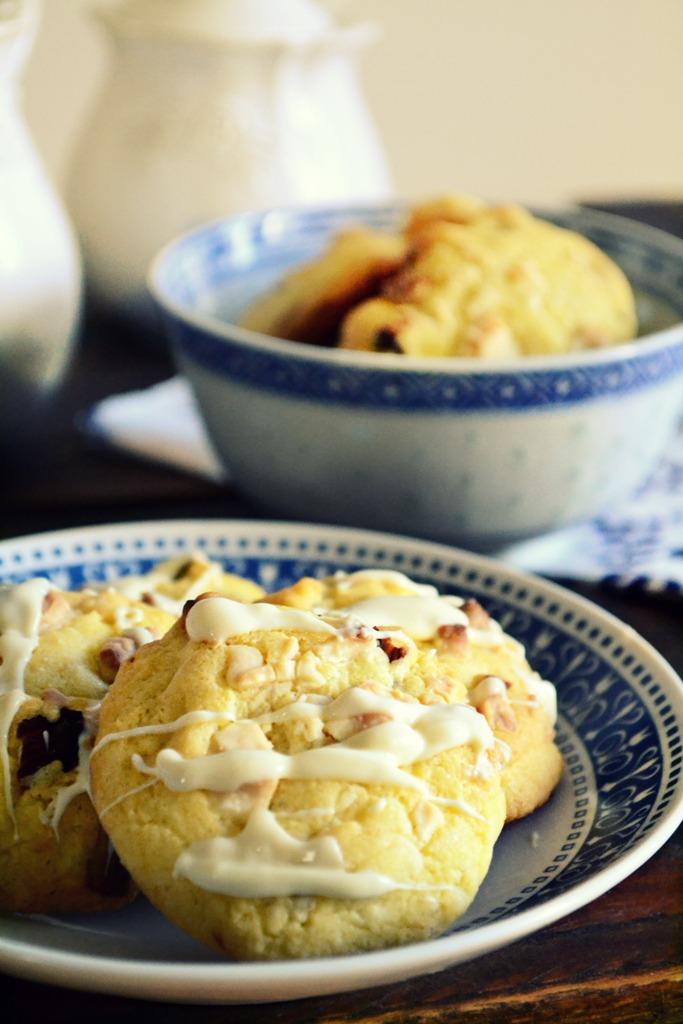 Cookies με Λευκή Σοκολάτα και Λεμόνι