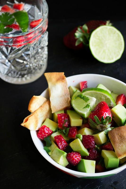 Σαλάτα με Φράουλες και Ακτινίδιο