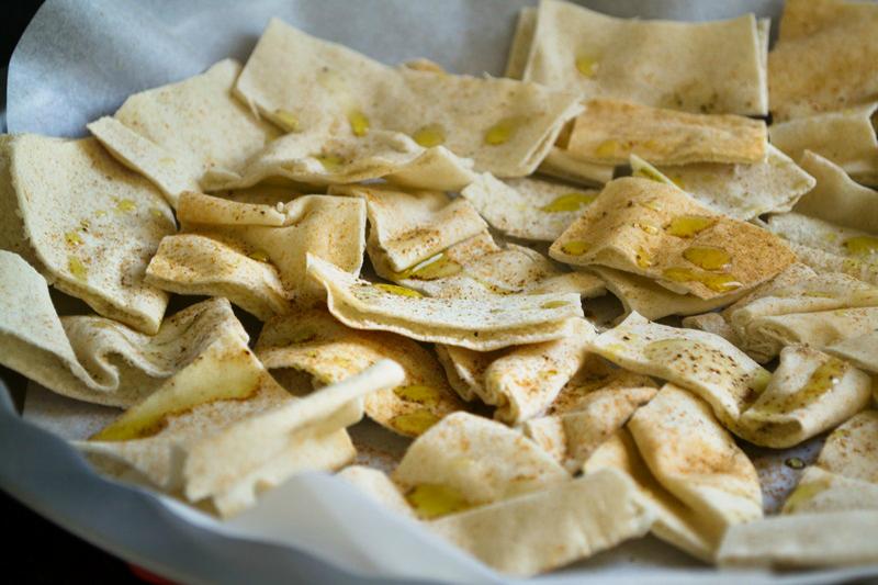 Υγιεινά Chips με Αραβική Πίτα