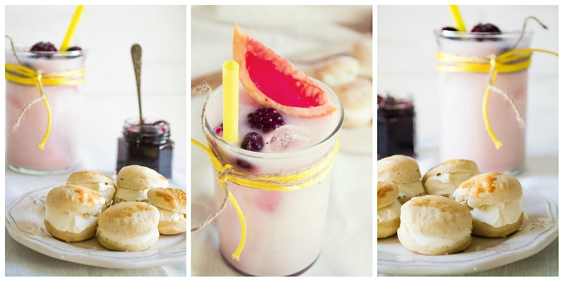 Scones και Smoothie με Τσάι