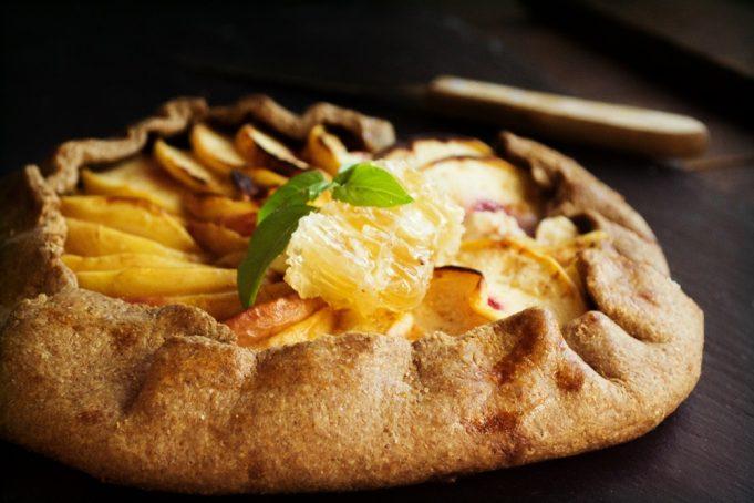 Τάρτα με Ροδάκινα, Κατσικίσιο Τυρί και Μέλι