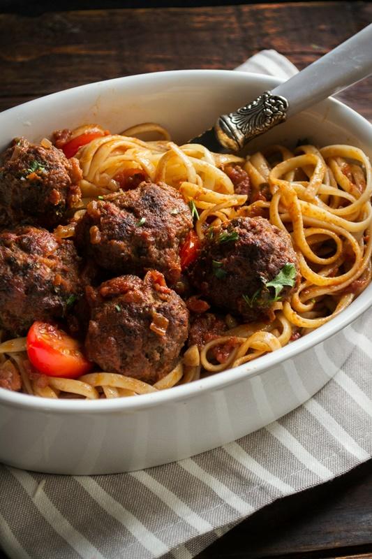 Συνταγή Κεφτεδάκια με Σπαγγέτι Λαίδη και Αλήτης