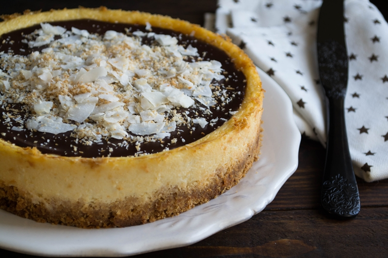 Cheesecake με Καρύδα και Σοκολάτα