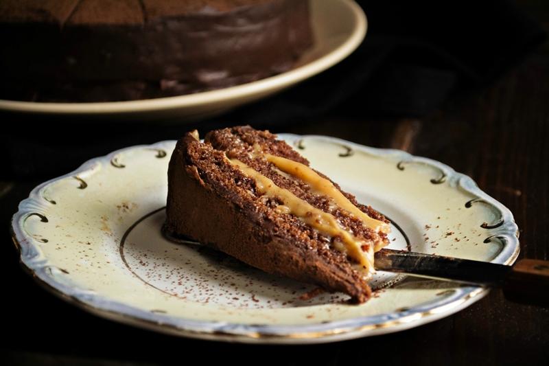 Κέικ Σοκολάτας με Καραμέλα