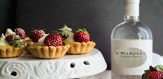 Ταρτάκια με Κρέμα Λεμόνι, Λικέρ Μαστίχα Skinos και Φράουλες
