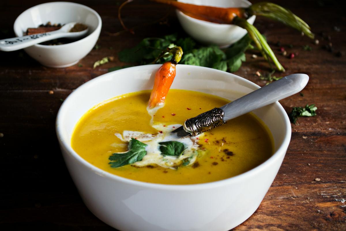 Καροτόσουπα με μπαχαρικά