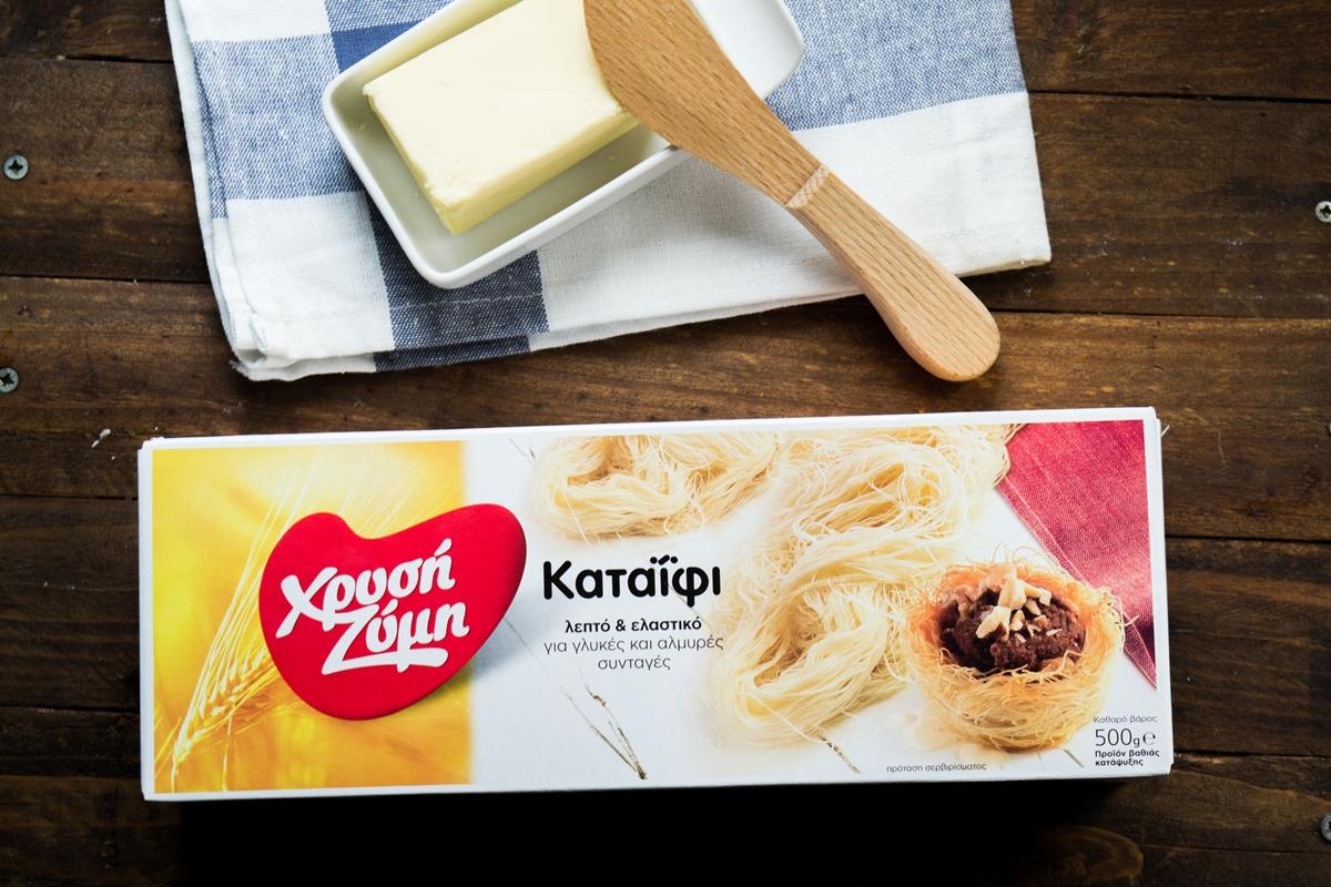 Εκμέκ με Παγωτό Καϊμάκι και Ροδόνερο