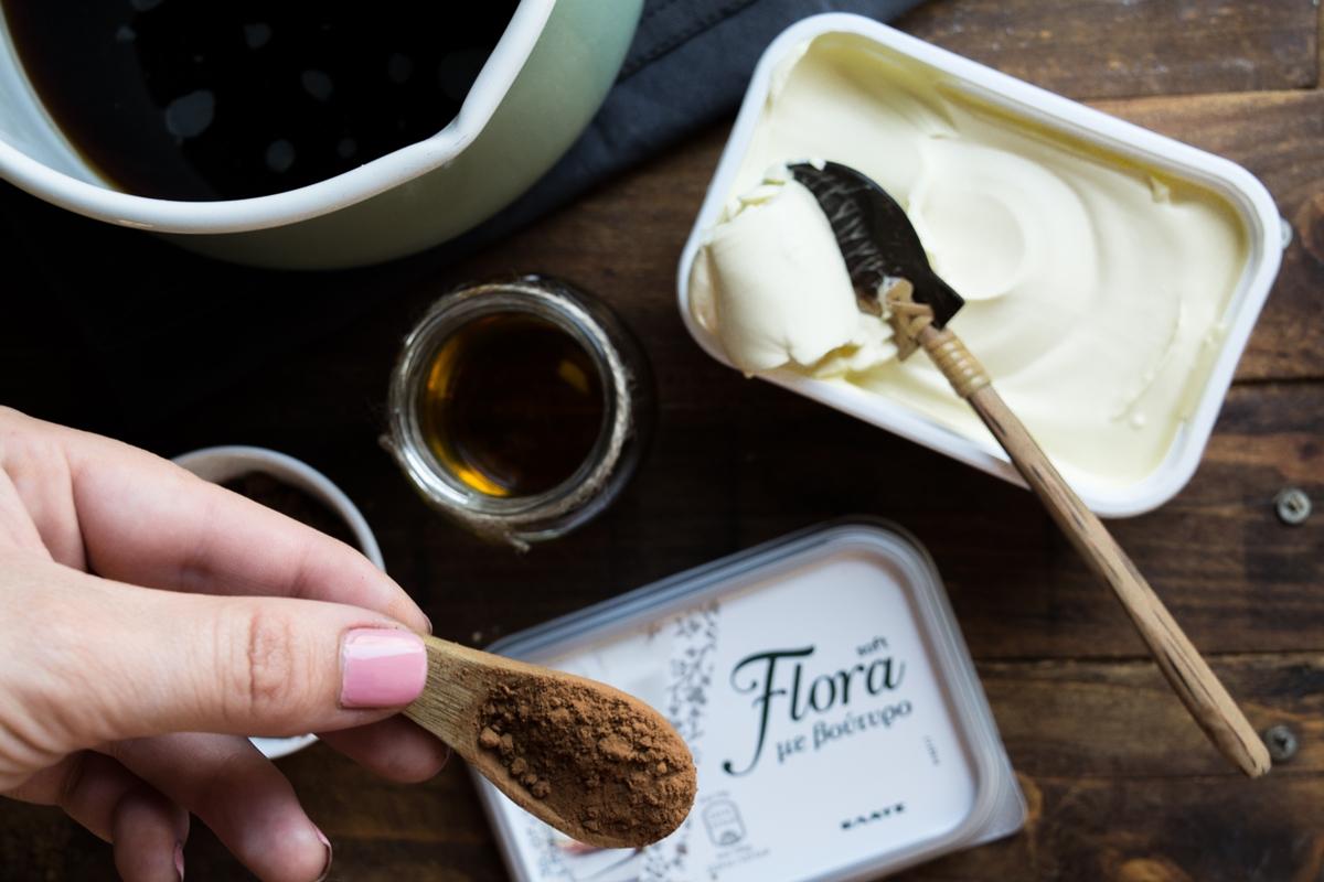 Κέικ Σοκολάτας με Flora