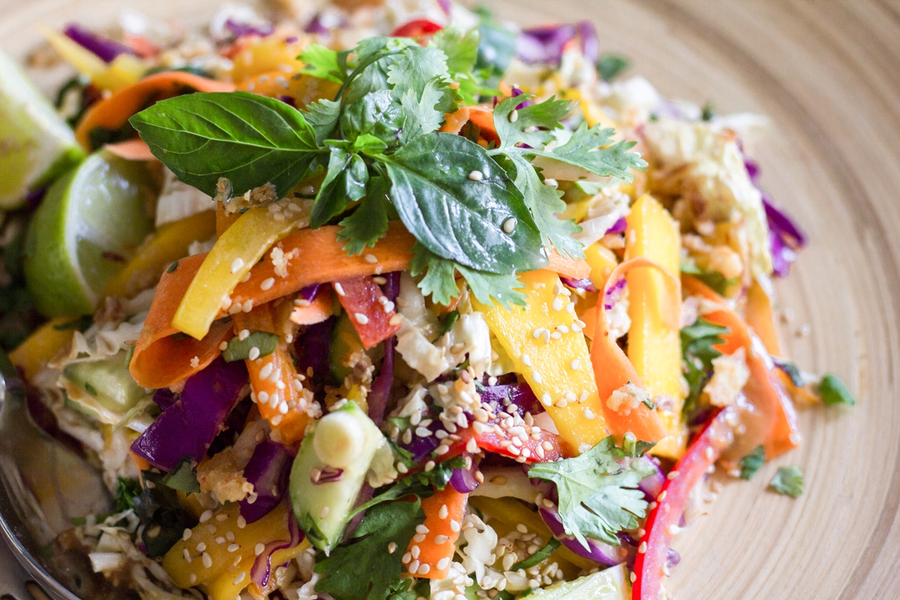 Thai Mango Peanut Butter Salad