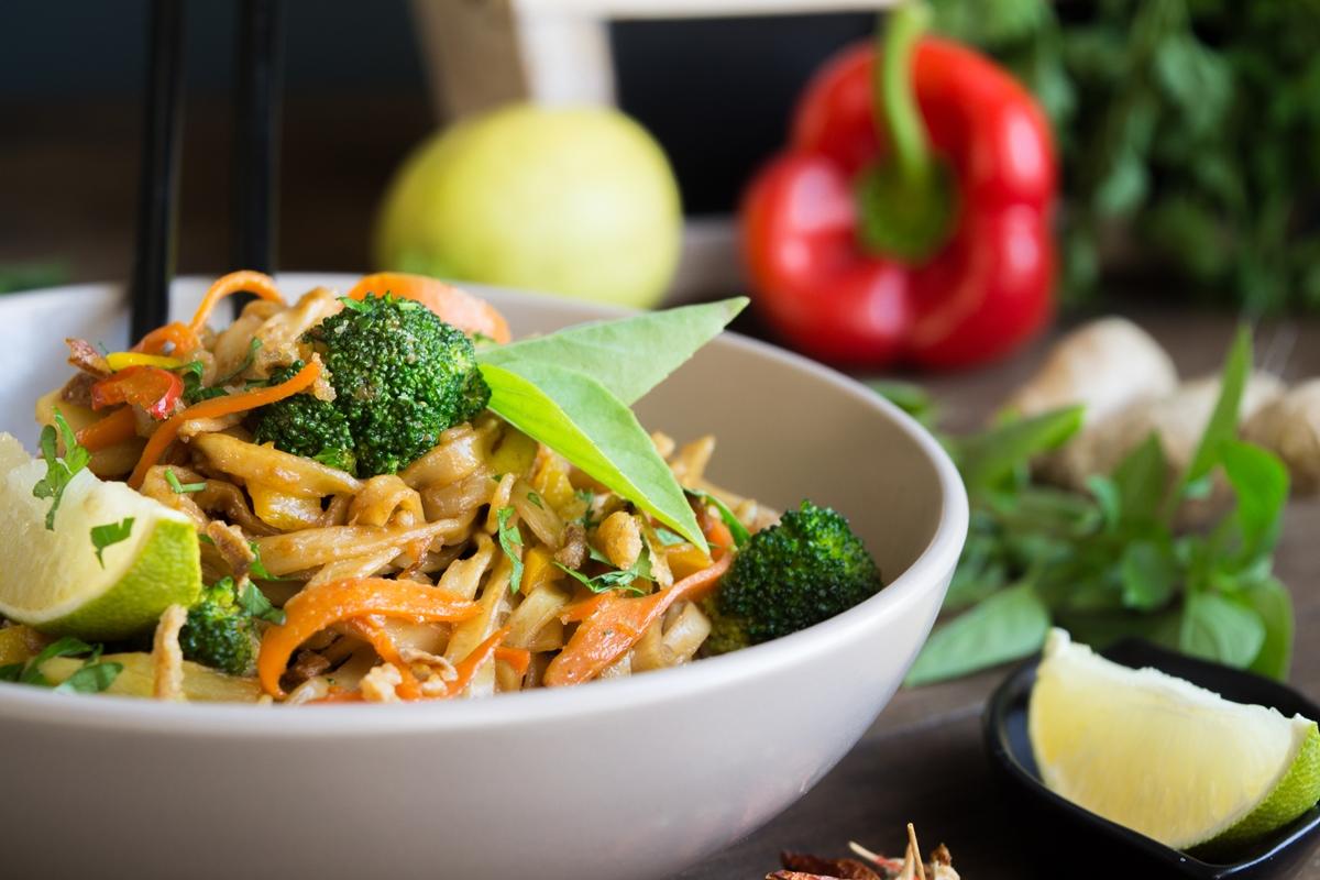 Noodles με Λαχανικά και Φυστικοβούτυρο
