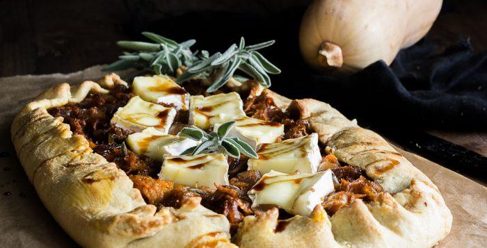 Τάρτα με Κολοκύθα, Φασκόμηλο και Κατσικίσιο Τυρί