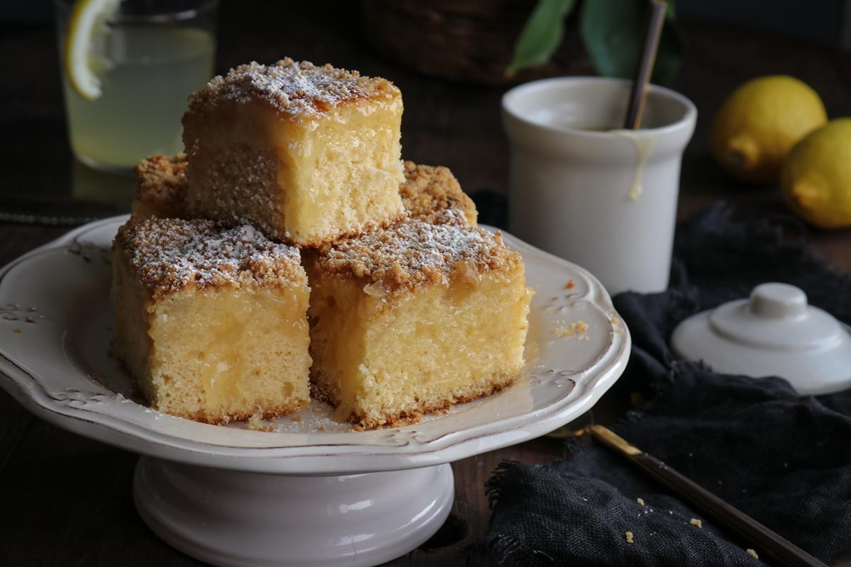 Κέικ με Κρέμα Λεμόνι Συνταγή