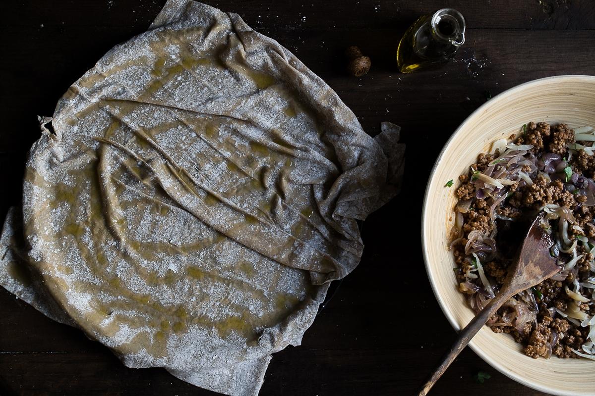 Κιμαδόπιτα με Κασέρι και Φύλλο Κιχί από Αλεύρι Ολικής Άλεσης