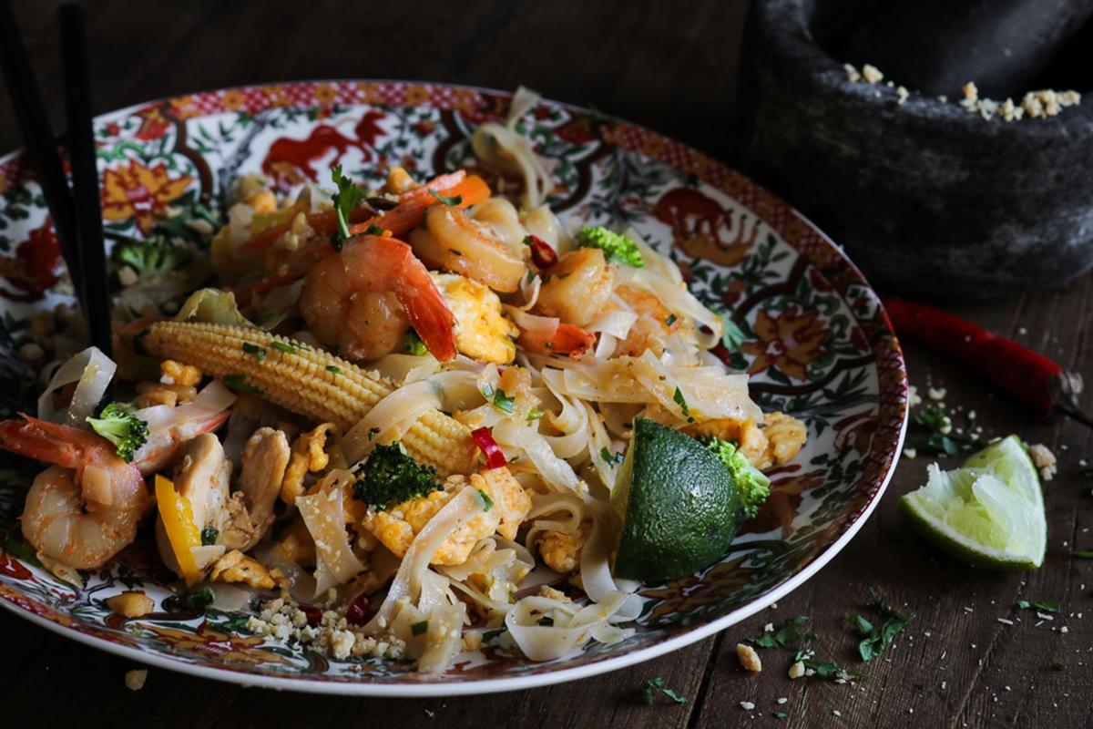 Noodles με σάλτσα Teriyaki και Κοτόπουλο