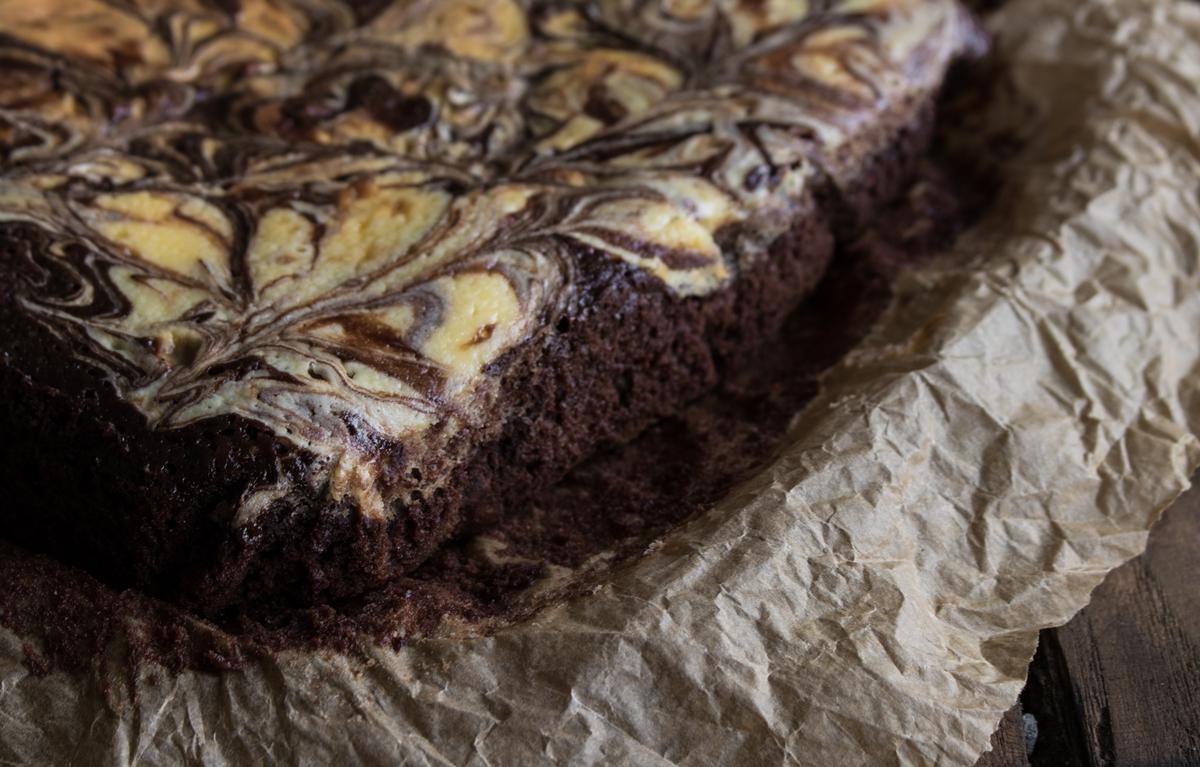 brownies με τυρί κρέμα
