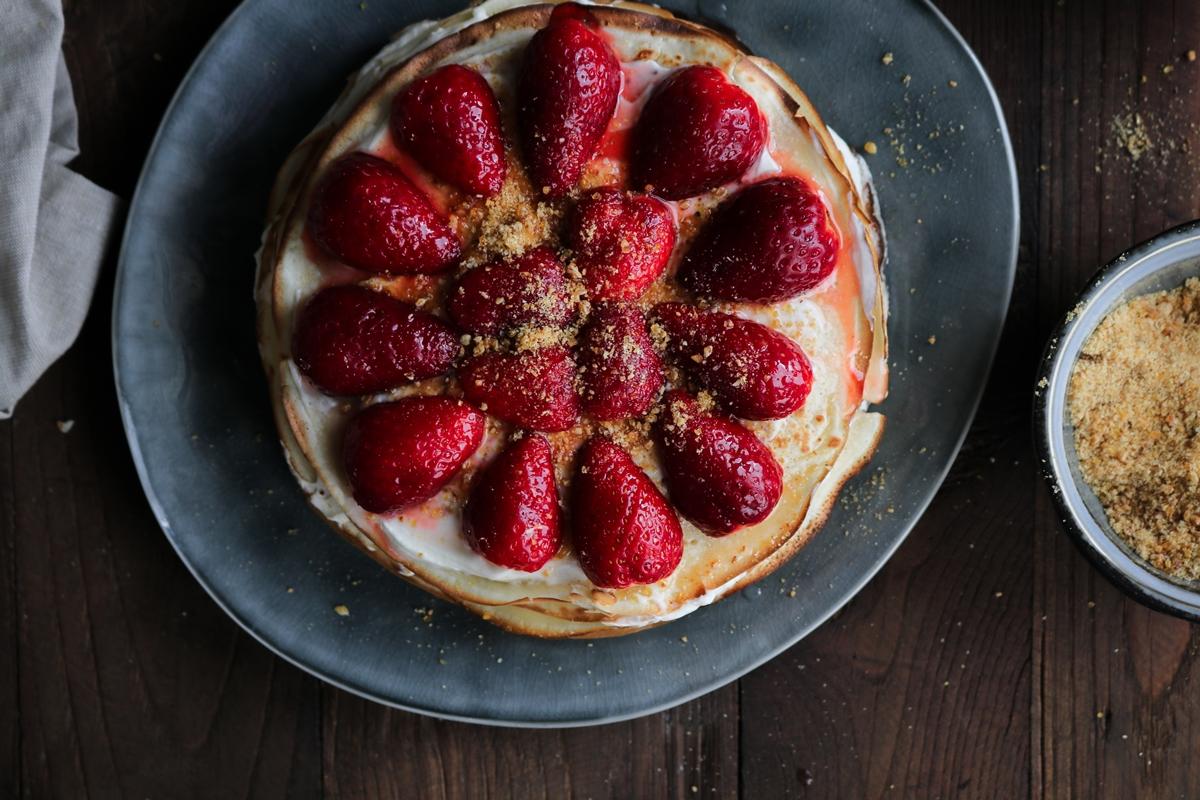 Κρέπες με Φράουλες Συνταγή