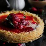 Συνταγή για Τσιζ Κέικ με Λεμόνι και Φράουλες