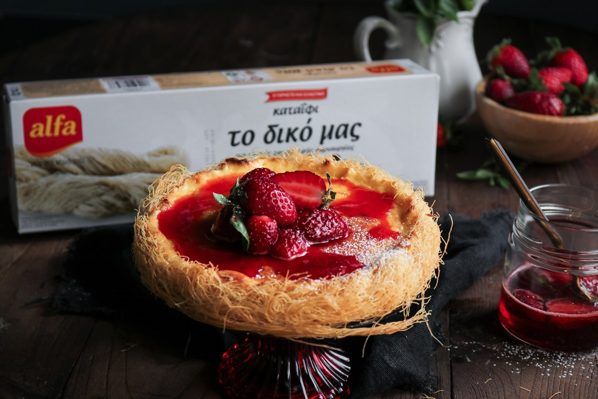 Cheesecake με Καταΐφι