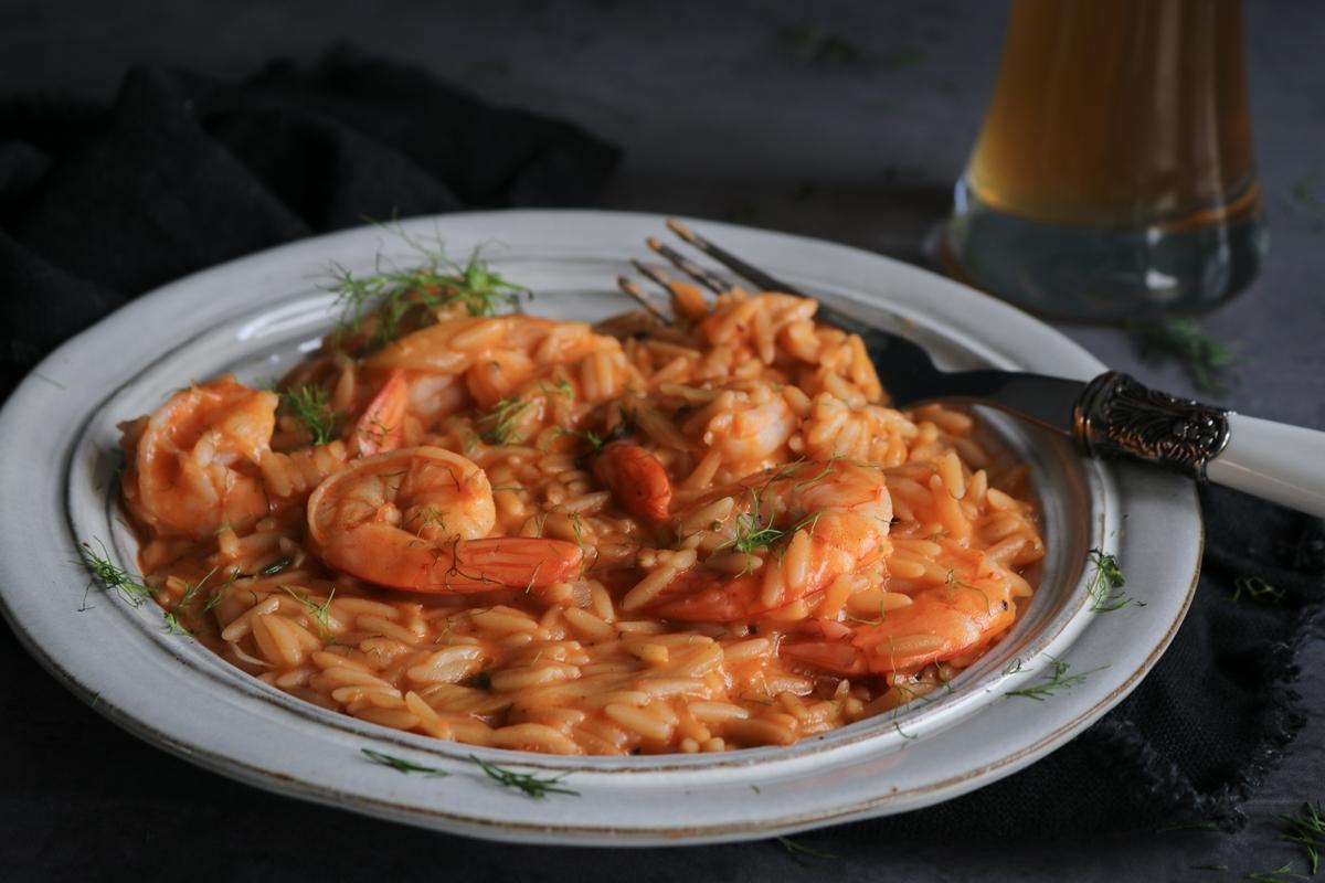 Κριθαρότο με Φρέσκιες Γαρίδες Συνταγές