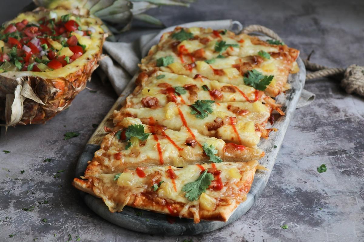 Συνταγή για Πίτσα με Ανανά Χαβάη