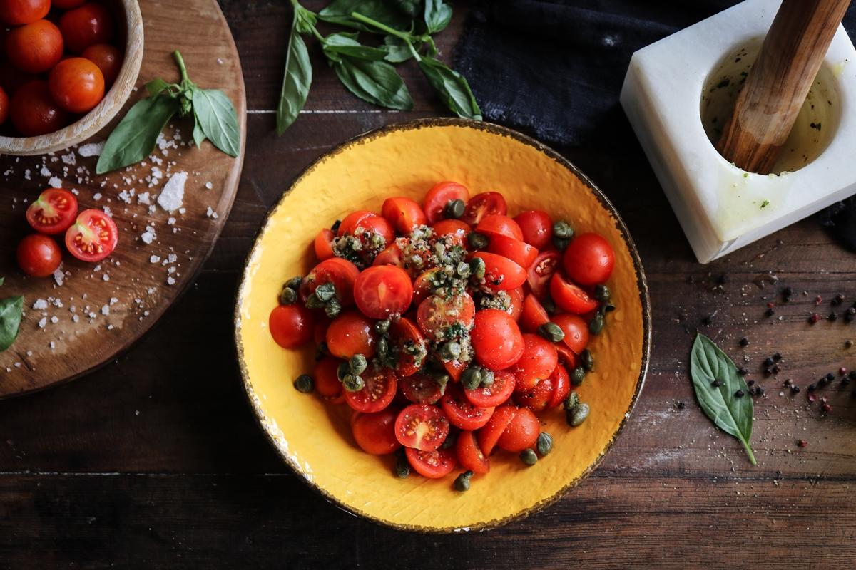 Ντοματίνια Μαριναρισμένα Συνταγή