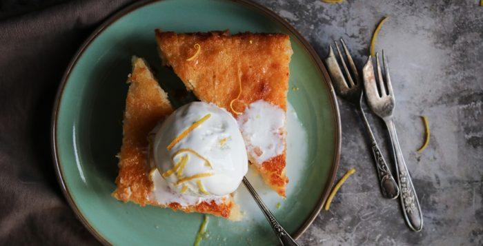 Λεμονόπιτα με Σπιτικό Παγωτό Γιαούρτι