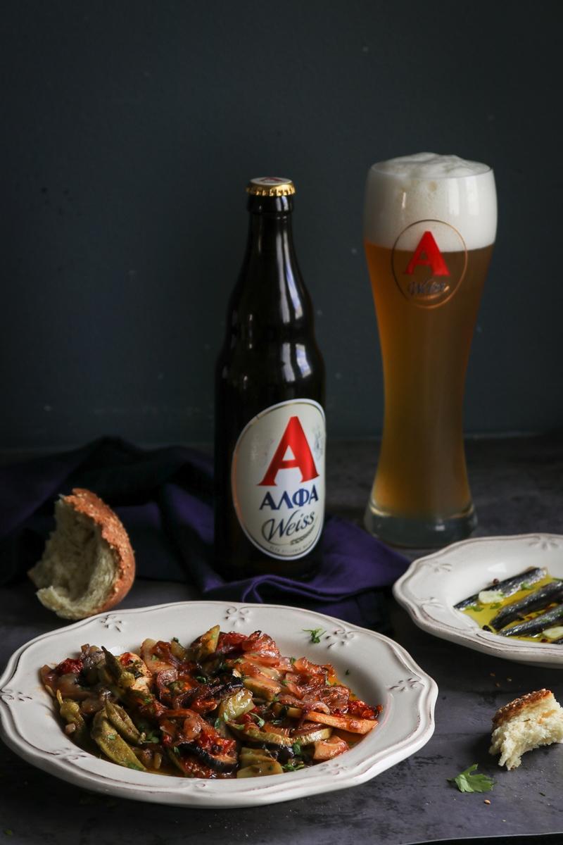 Μπύρα Alfa Weiss Φαγητό