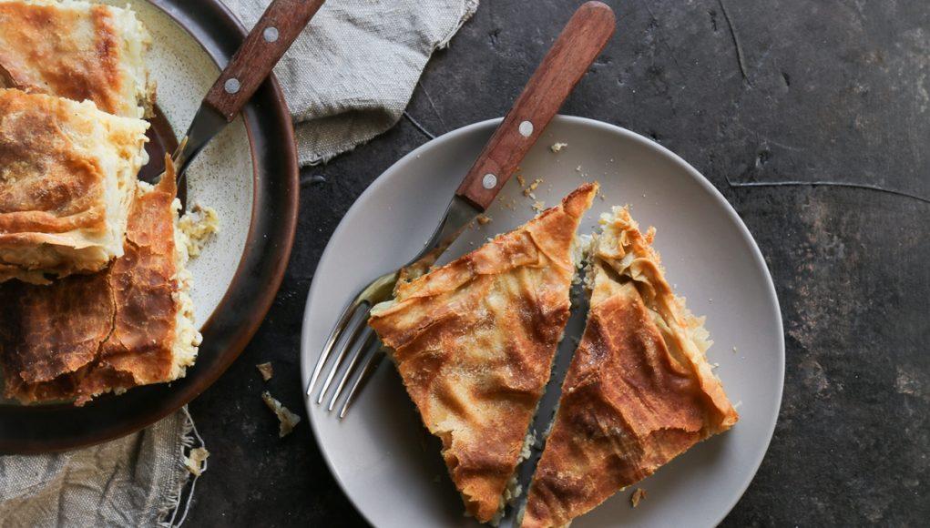 Μπρικόπιτα_Κοτόπιτα με Κρέμα από Καλαμποκάλευρο