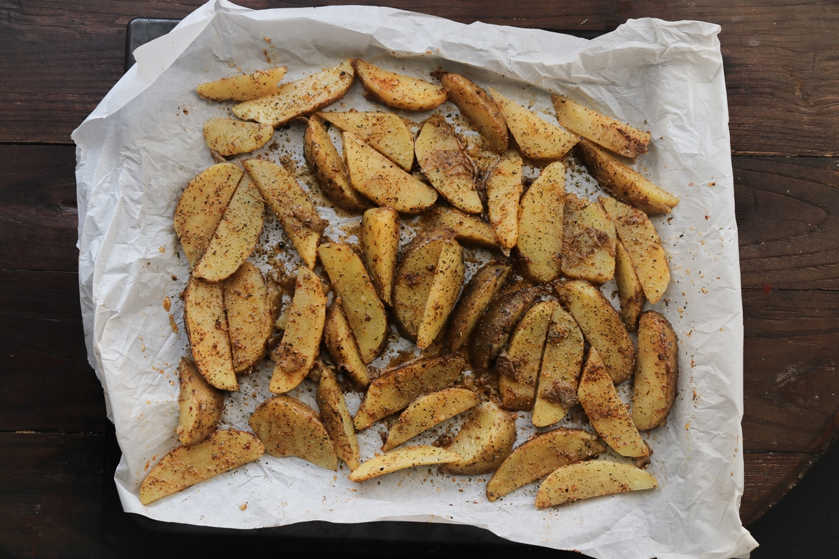 Τηγανητές Πατάτες στο Φούρνο