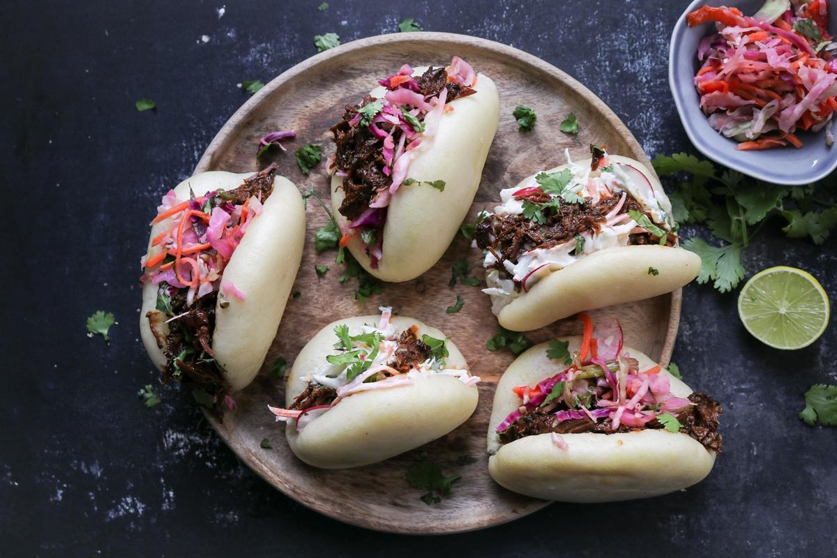 Bao Buns με Pulled Pork