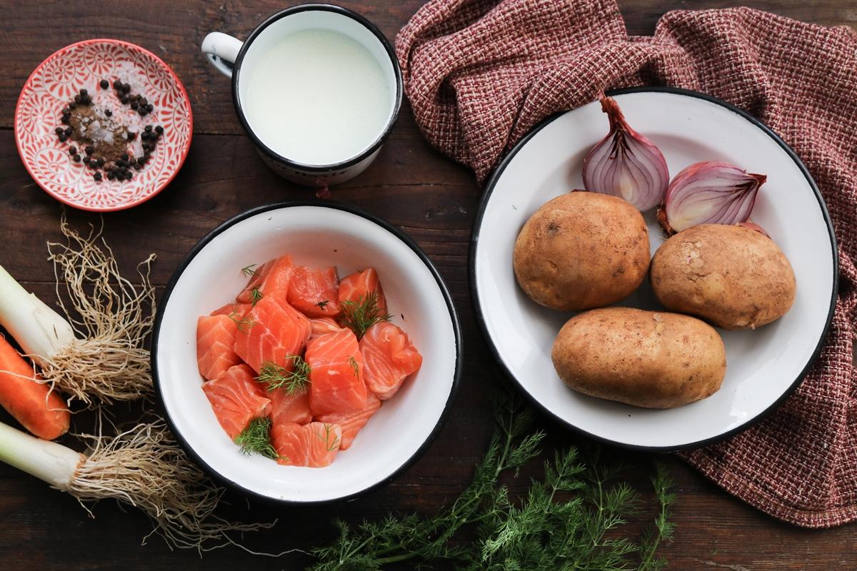 Συνταγές για Σούπα με Σολομό