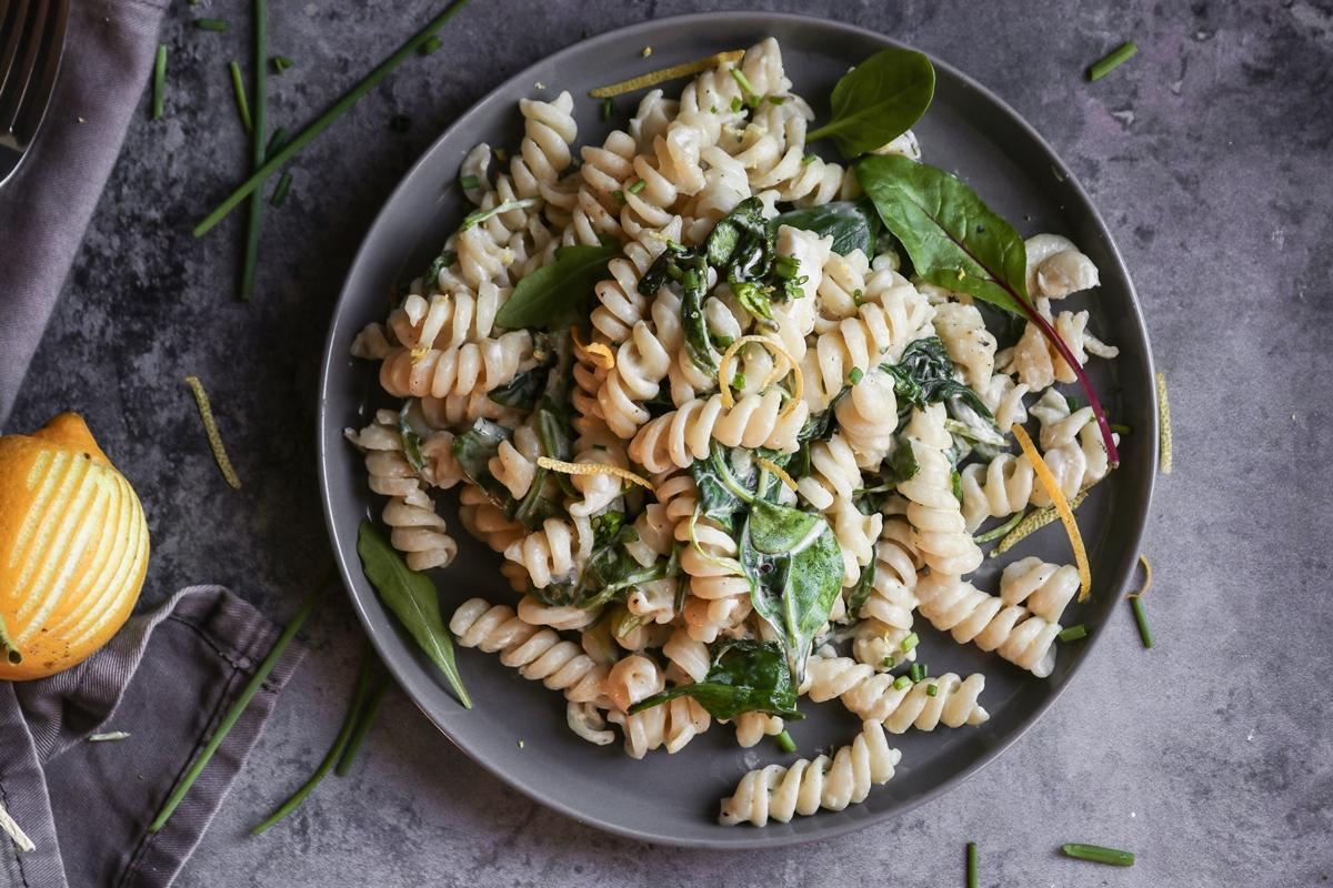 Συνταγές για Ζυμαρικά Βίδες με Τυρί Κρέμα και Λεμόνι