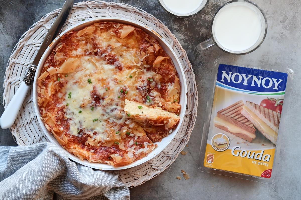 Τυρόπιτα Σουφλέ με Γκούντα NOYNOY