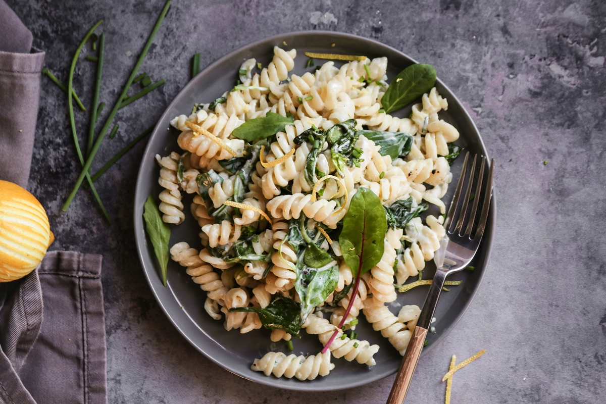 Healthy Pasta Recipes Lemon, Mascarpone, Greens